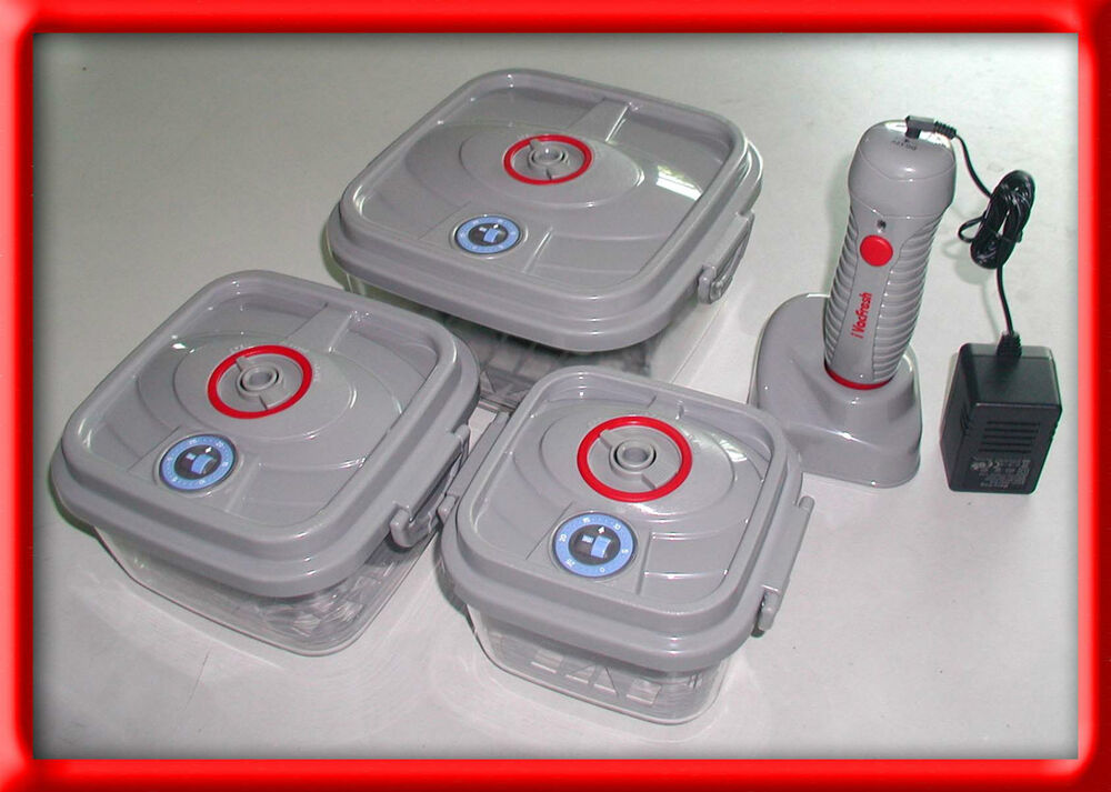 Auto Food Saver Vacuum Sealer Containers No More Bag Roll
