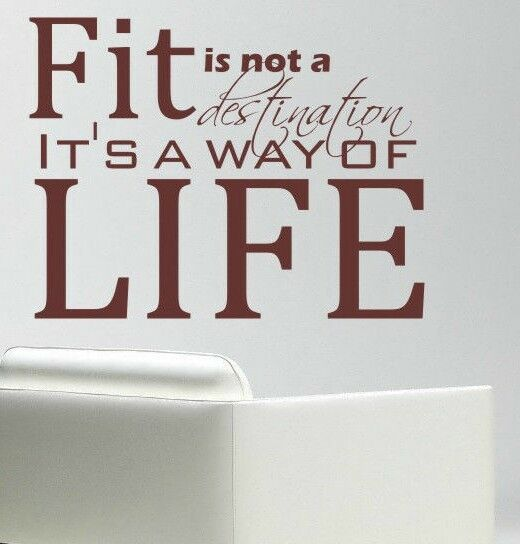 Wall stencil designs sayings : Fit gym sport motivational cool wall quote vinyl art