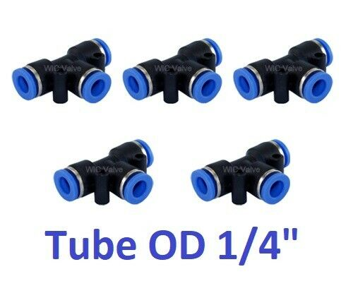 Pcs pneumatic tee union connector tube od quot one touch