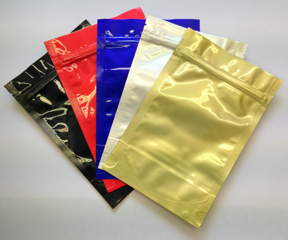 resealable foil bags zip lock heat seal bag pouches 130 x 200mm mixed colours ebay. Black Bedroom Furniture Sets. Home Design Ideas