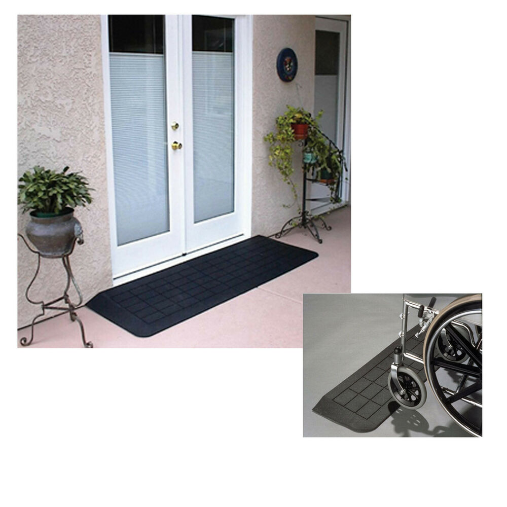 Wheelchair mobility scooter rubber threshold ramp disabled for Wheelchair accessible doorways