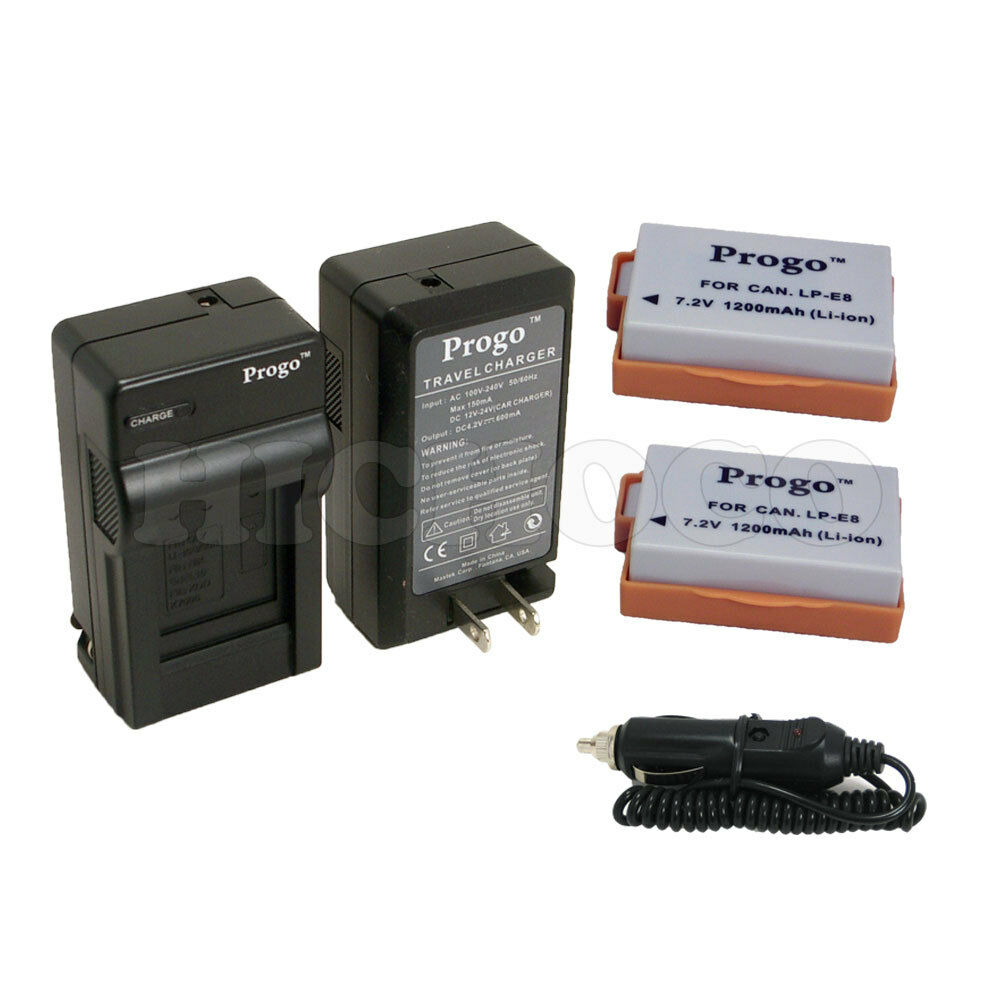 2 battery charger combo kit for canon lp e8 lpe8 eos rebel t4i t5i 700d 650d ebay. Black Bedroom Furniture Sets. Home Design Ideas