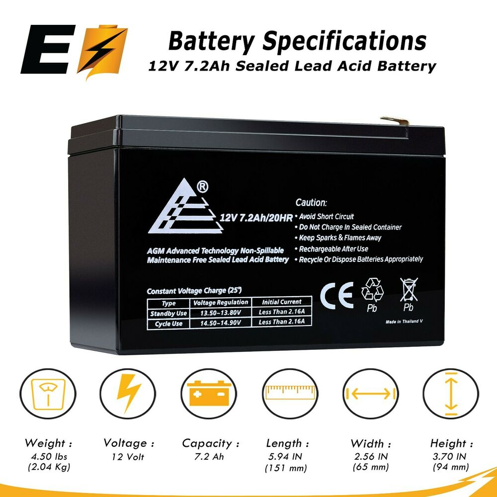 12v 7 2ah 7ah sealed lead acid sla battery for universal alarm control system ebay. Black Bedroom Furniture Sets. Home Design Ideas