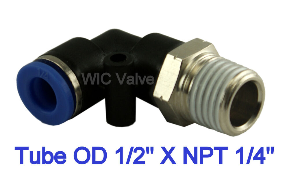 Pcs pneumatic male elbow connector air push in fitting