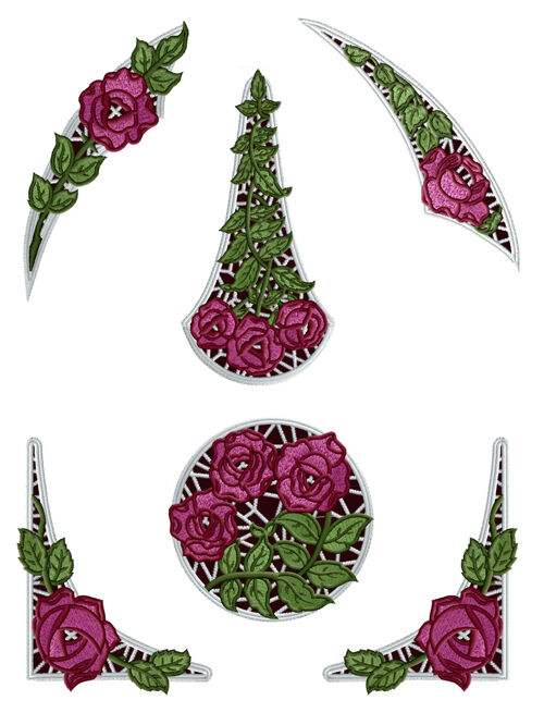 Abc designs roses lace inserts machine embroidery designs for Embroidery office design 7 5 full