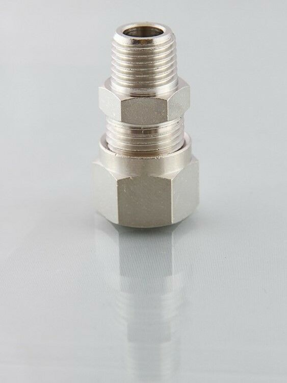 Metric compression fittings male studs bspt from mm to