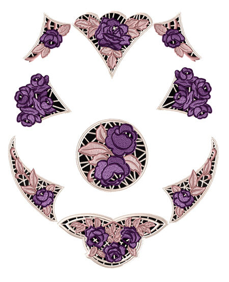 Abc designs purple roses lace machine embroidery designs for Embroidery office design 7 5 full