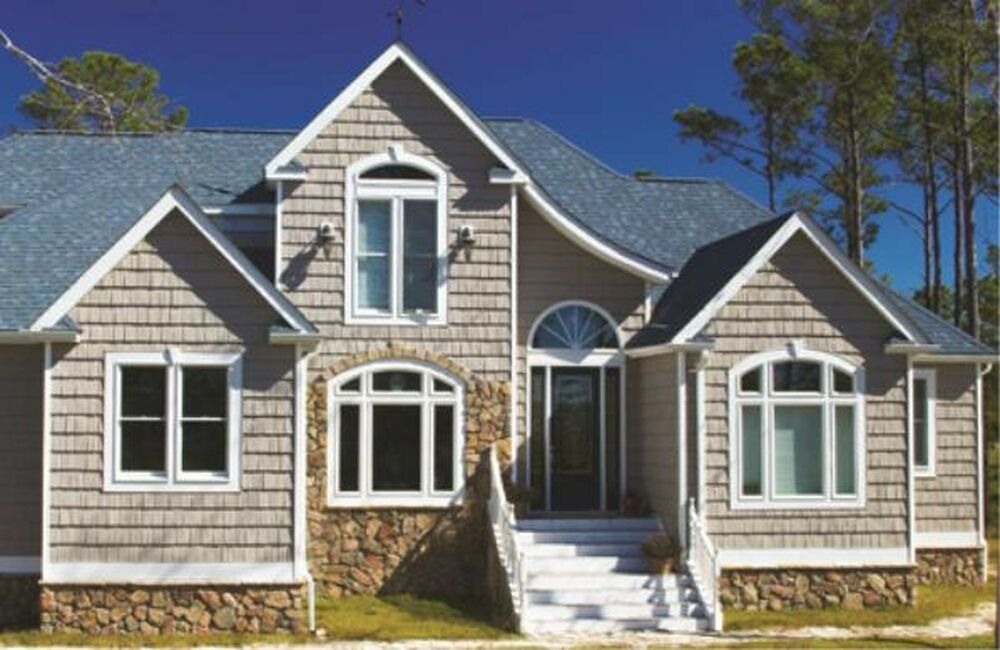 Vinyl siding 7 staggered shake like real cedar 34 colors for What is 1 square of vinyl siding