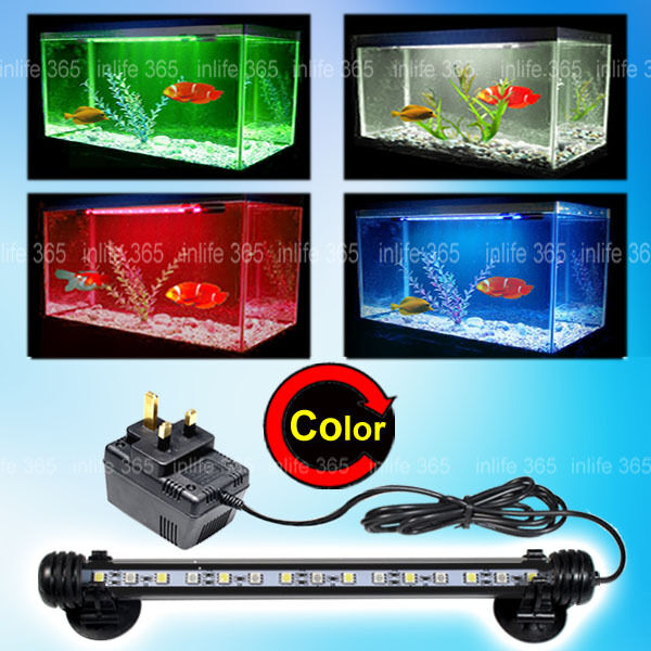 Aquarium fish tank submersible led light bar lamp white for Fish tank led light bar