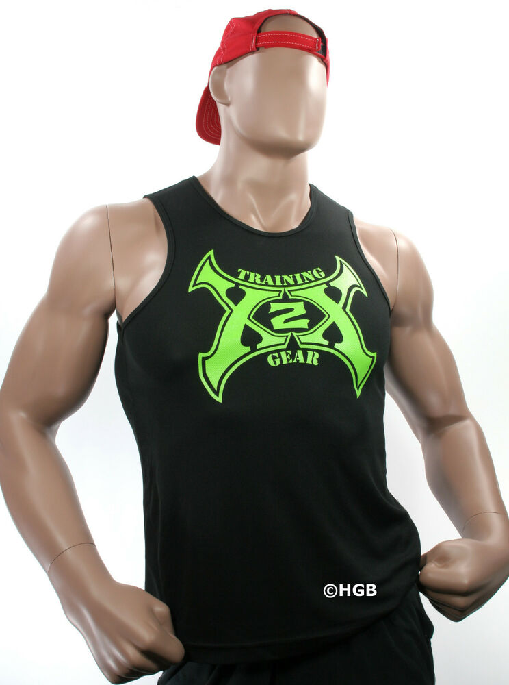 Mens tank top shirt x2x bodybuilding wear xmesh xtreme gym Fitness shirts for men