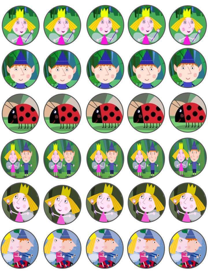 30 Ben and Holly Little Kingdom Birthday Edible Rice Paper ...