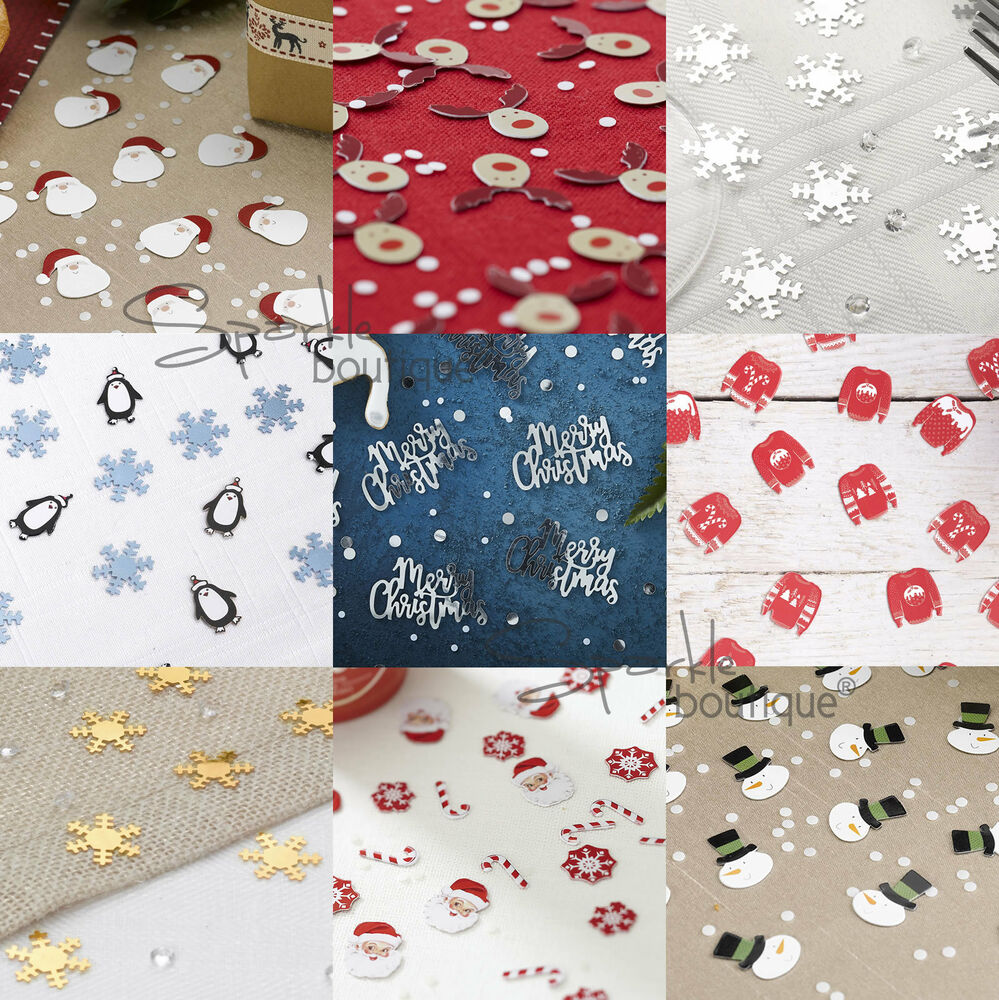 Luxury Christmas Table Confetti Scatter Sprinkles