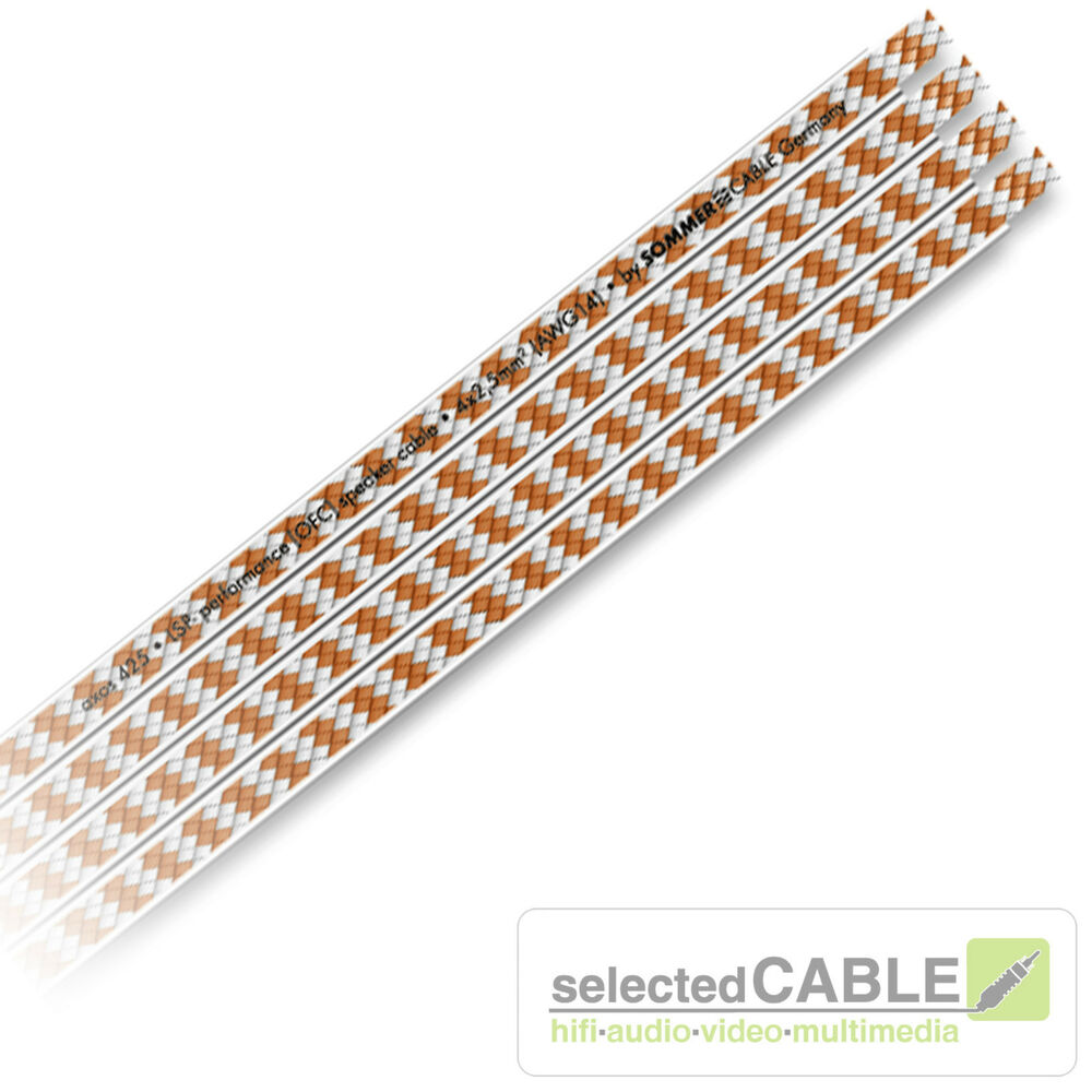 SOMMER CABLE SC AXOS 4 x 2,5mm² OFC 1m Flach Lautsprecherkabel ...