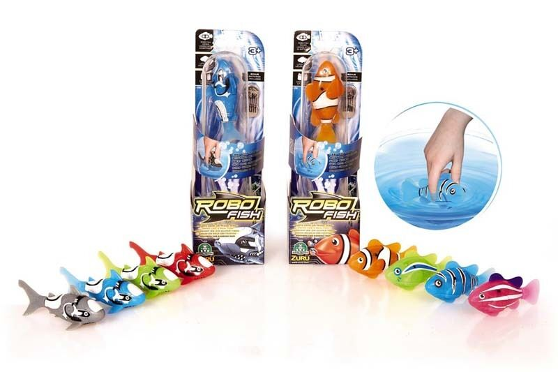 Robo fish aquatic toy pet fish robot battery operated for Robot fish toy