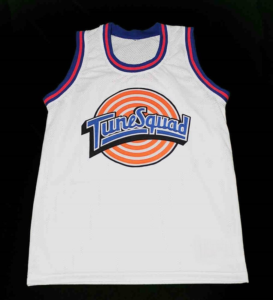 5b0ec98c0ce Details about TAZ TUNE SQUAD SPACE JAM MOVIE BASKETBALL JERSEY WHITE  QUALITY NEW SEWN ANY SIZE