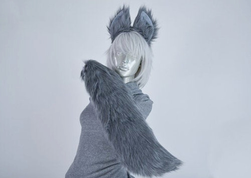 tail cosplay ears and Wolf