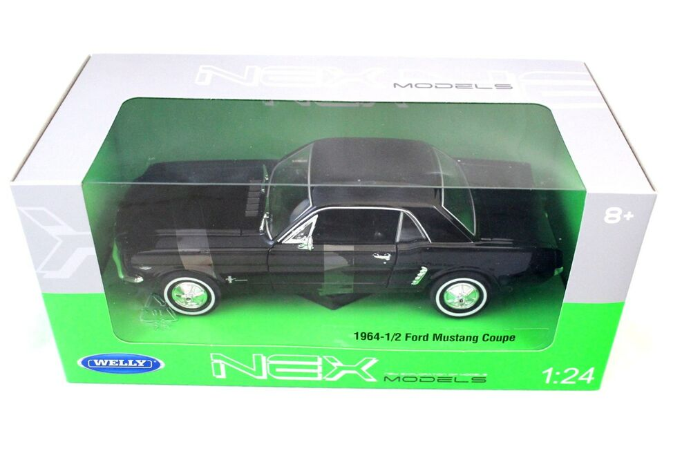 Welly 1964 1 2 ford mustang h top black new in box 1 24 for 1 1 2 box auto