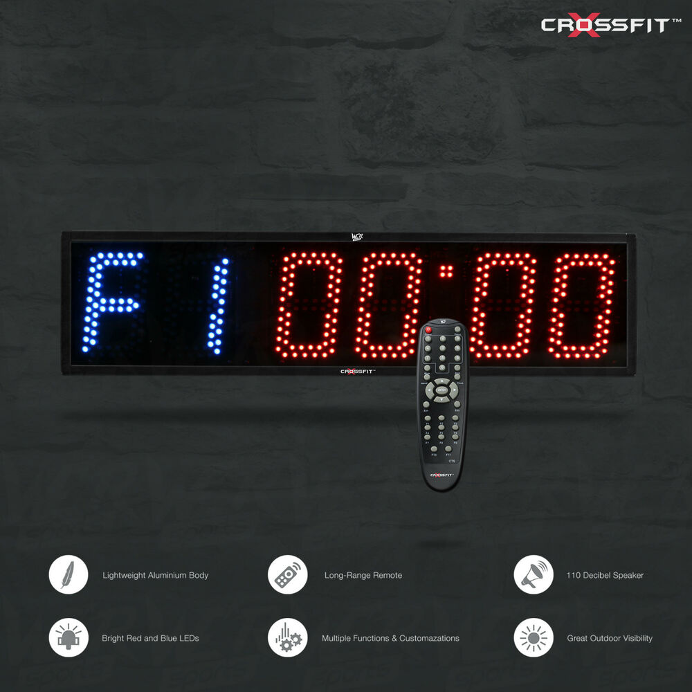 crossfit timer programmable interval gym boxing mma wall