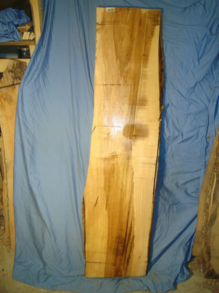 Ambrosia wormy maple lumber live edge slab table crafts