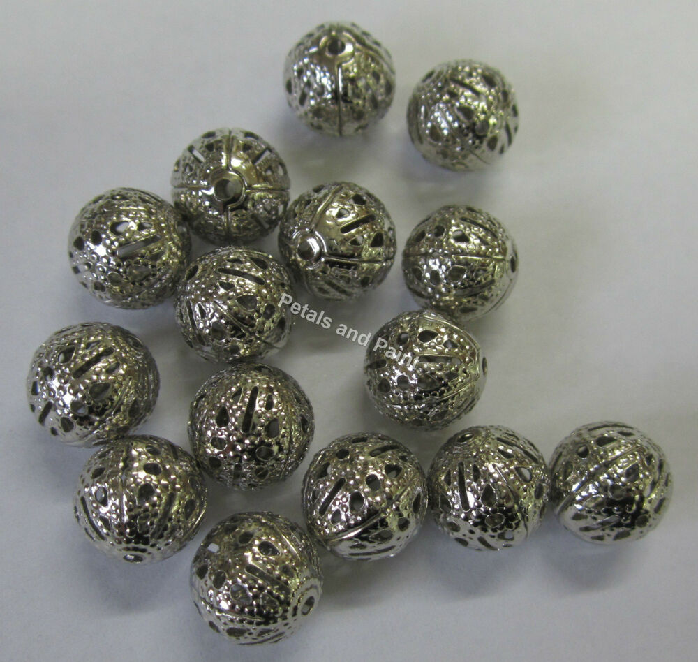 15 bali metal spacer antique silver tone bead for