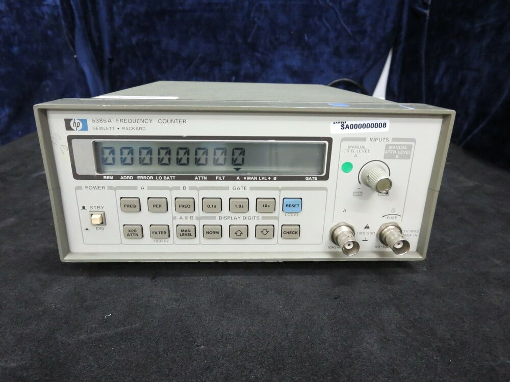 Photo Eye Frequency Counter : Hp a frequency counter d ebay