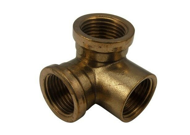 Pcs quot brass wall corner tee connector fittings