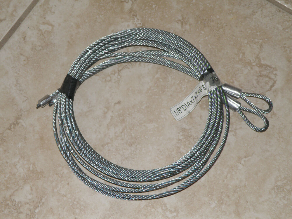 Garage Door Replacement Cables For 8 High Door Torsion