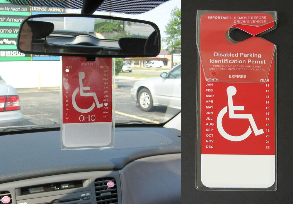 Set of 2 - New Handicapped Disabled Parking Car Permit ...