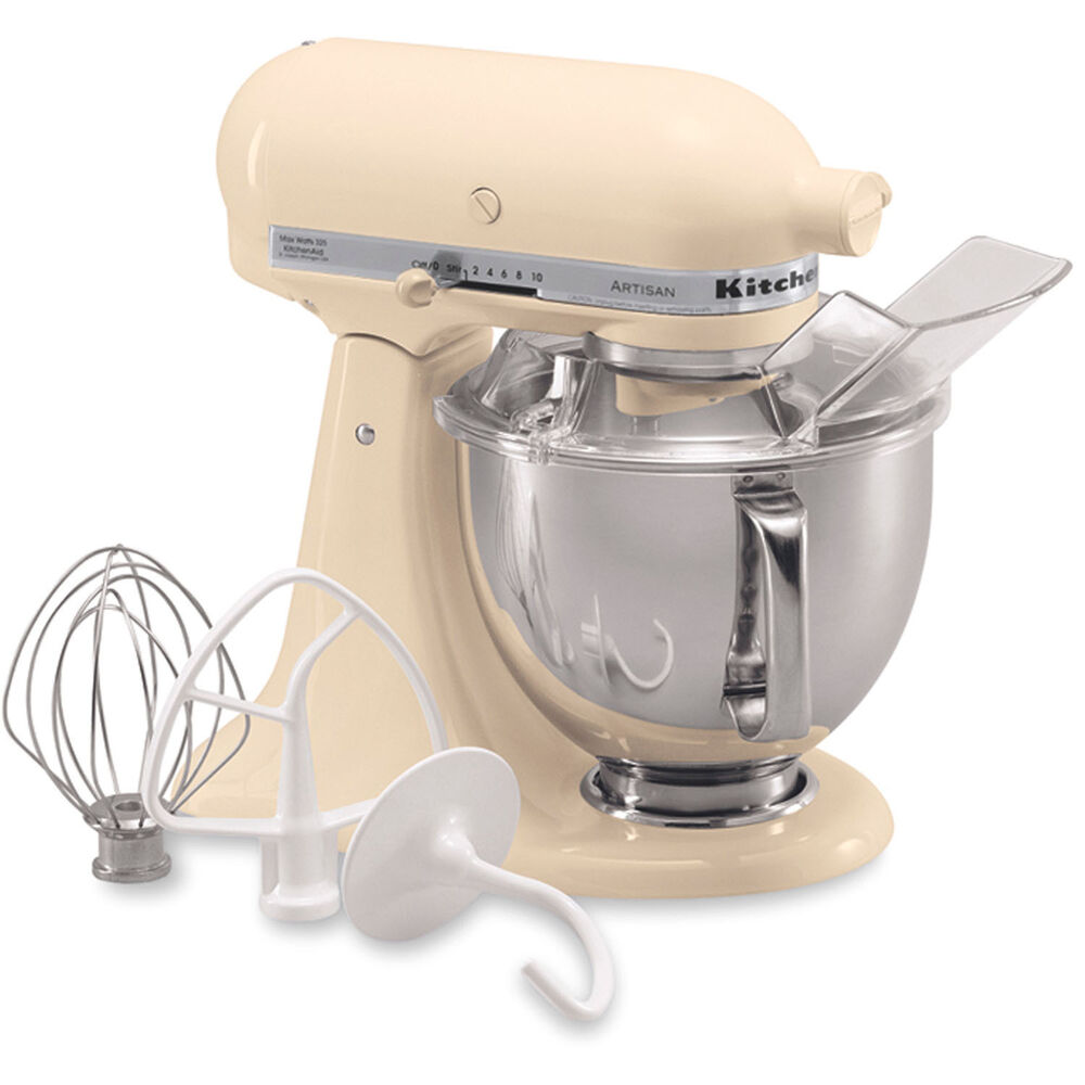kitchenaid almond cream artisan 5 quart tilt head stand mixer ksm150psac 50946872926 ebay. Black Bedroom Furniture Sets. Home Design Ideas