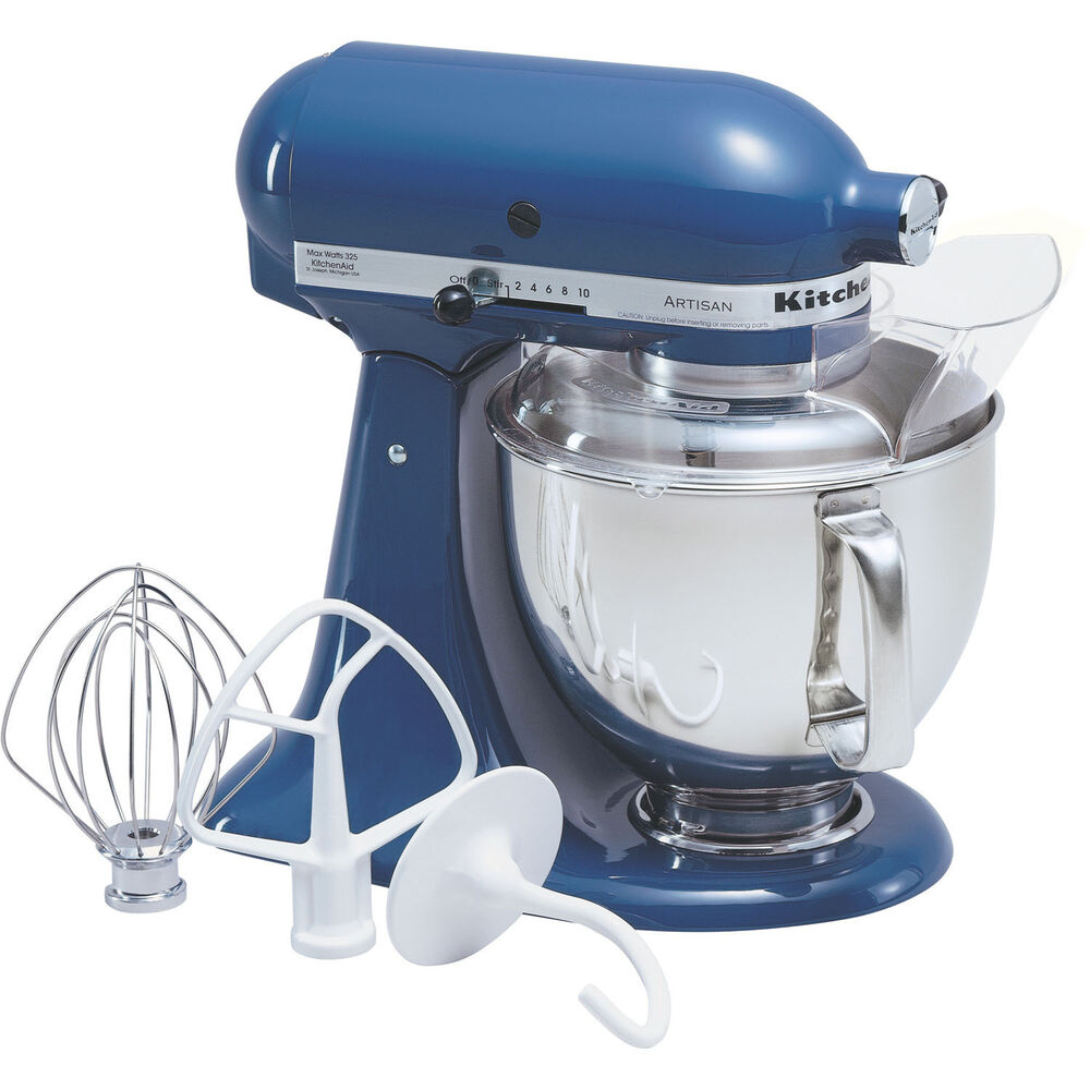 kitchenaid blue willow artisan 5 quart tilt head stand mixer ksm150psbw ebay. Black Bedroom Furniture Sets. Home Design Ideas
