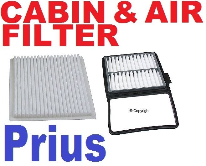 toyota prius engine air filter and cabin filter 2004 to