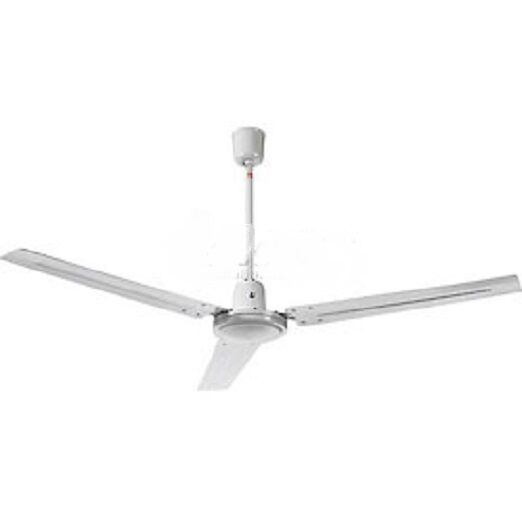 NEW! Industrial Ceiling Fan, White 56 Inch With Controller