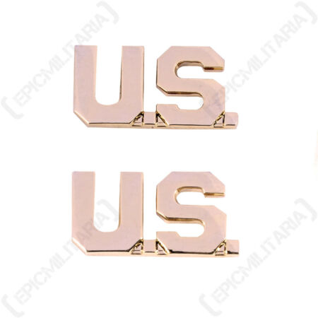 img-US Army Officer US MONOGRAM BADGES American Military WW2 Repro Collar Insignia