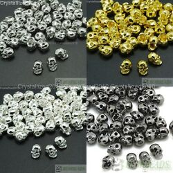 Kyпить Side Drilled Metal Skull Bracelet Necklace Earring Connector Charm Spacer Beads на еВаy.соm