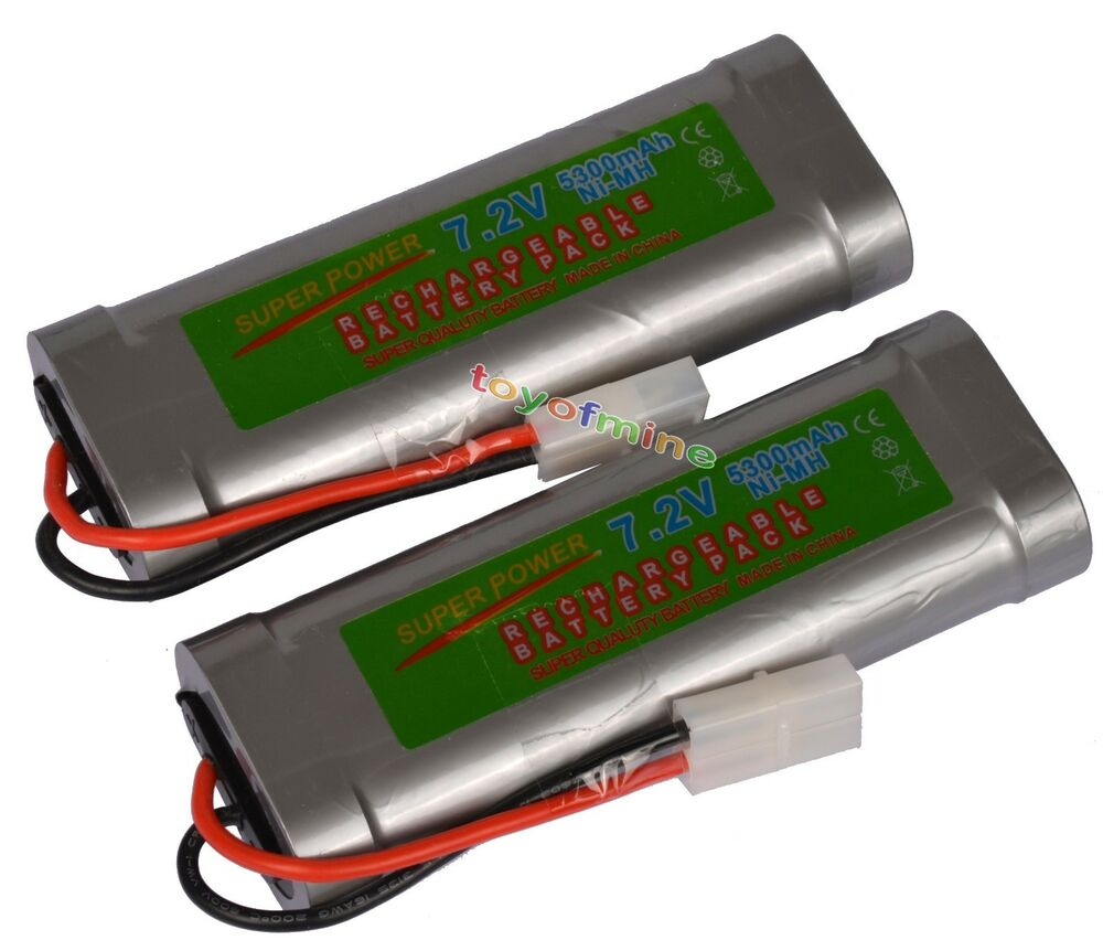 2x 7 2v 5300mah ni mh rechargeable battery rc tamiya usa ebay. Black Bedroom Furniture Sets. Home Design Ideas