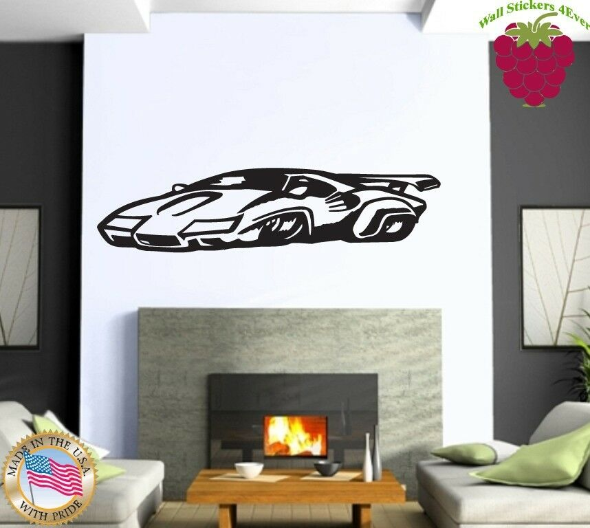 Wall Stickers Vinyl Decal Sports Muscle Car Racing Home