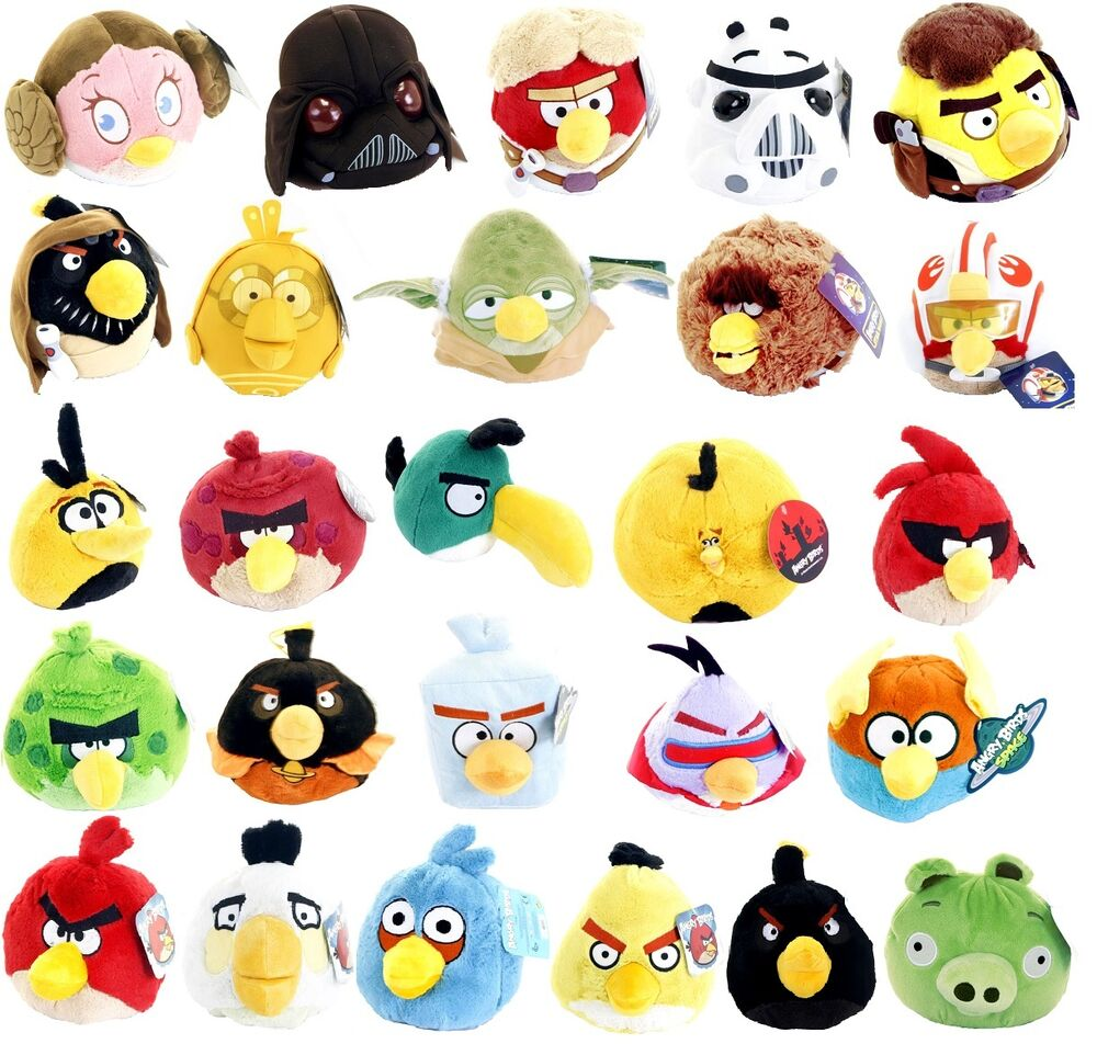 All Angry Birds Plush Toys : New official quot plush angry birds and pig soft