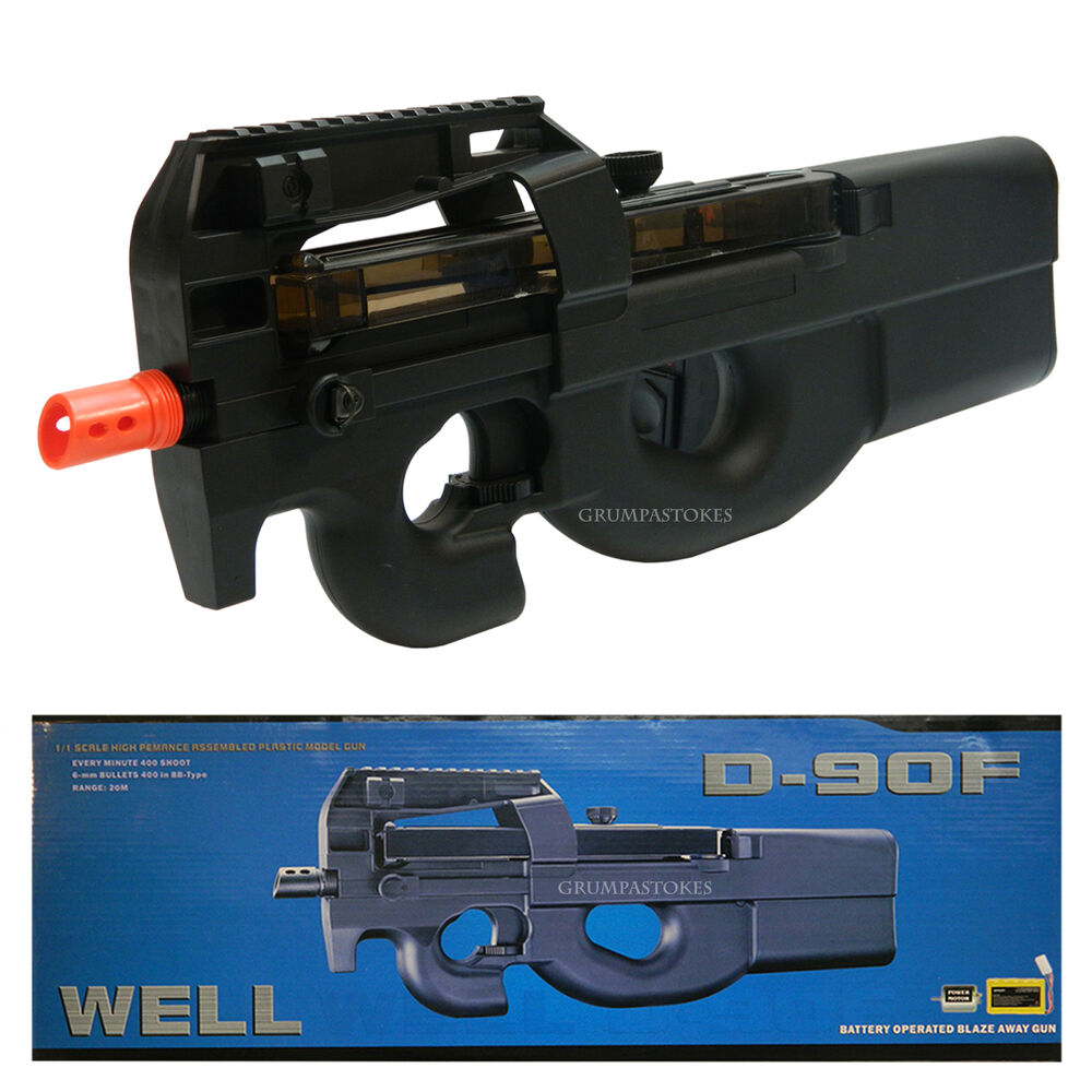 WELL D90F P90 STYLE ELECTRIC AIRSOFT GUN FULLY AUTOMATIC ...