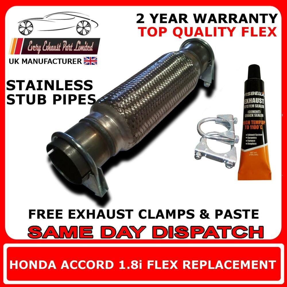 Honda Accord 1 8i 2 0i Petrol Exhaust Flexi Flex Front