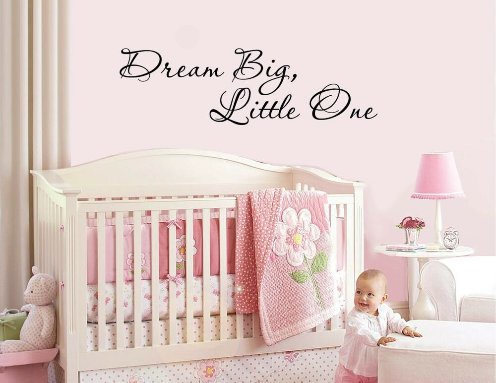 big one vinyl wall sticker decal baby nursery children decor ebay