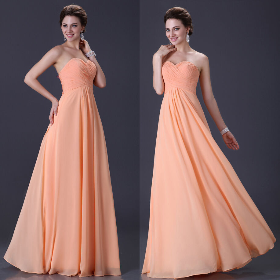 Lady women strapless evening formal ball prom gowns for Formal dress for women wedding