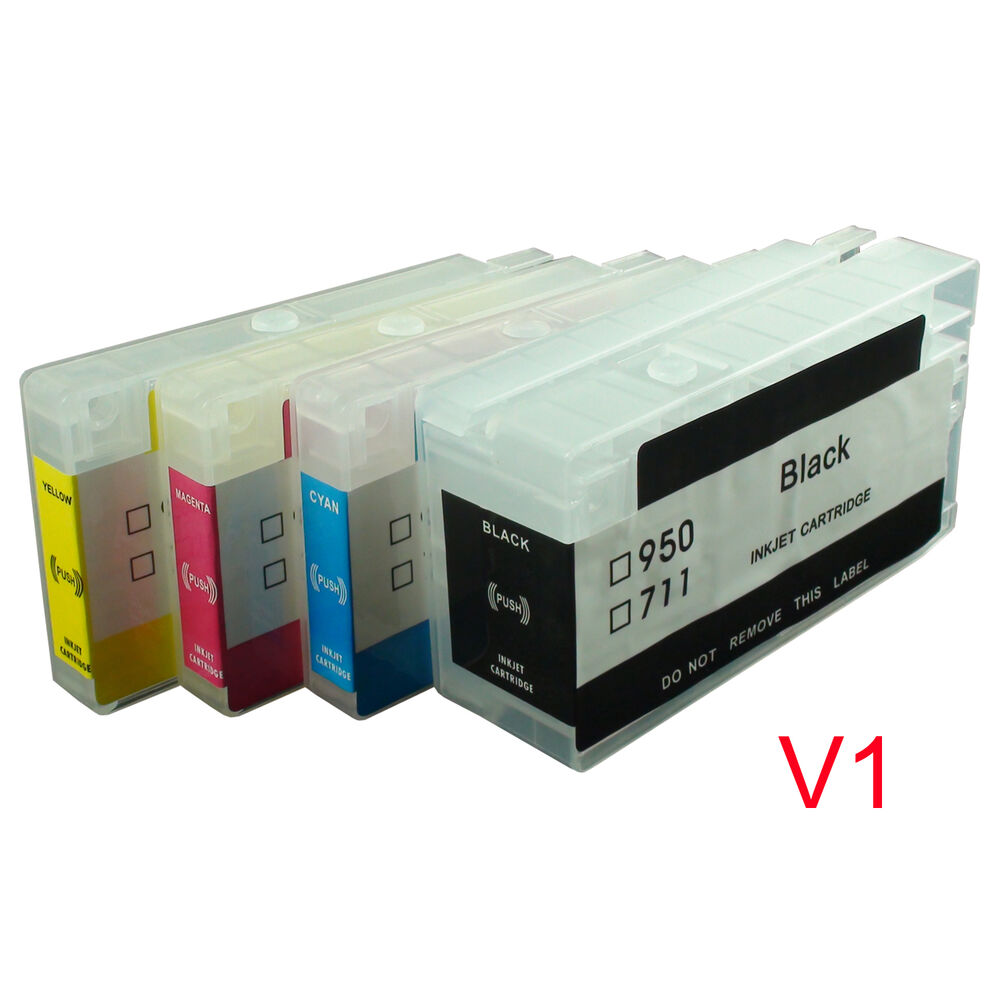 for hp950 hp951 hp 950 951 pro8100 pro8600 refillable ink cartridge with chips ebay. Black Bedroom Furniture Sets. Home Design Ideas