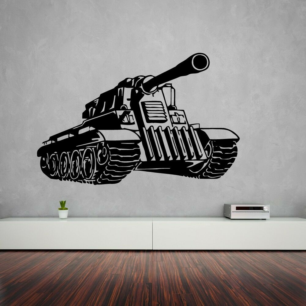 Wall Stickers Vinyl Decal Military Tank Army Nursery War