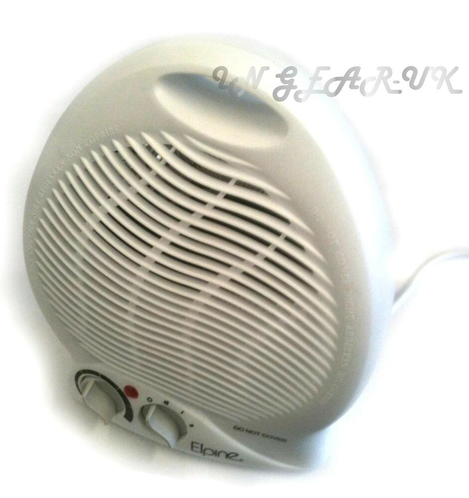 Quiet Blower Fan : Quiet portable fan room heater adjustable blower hot cold