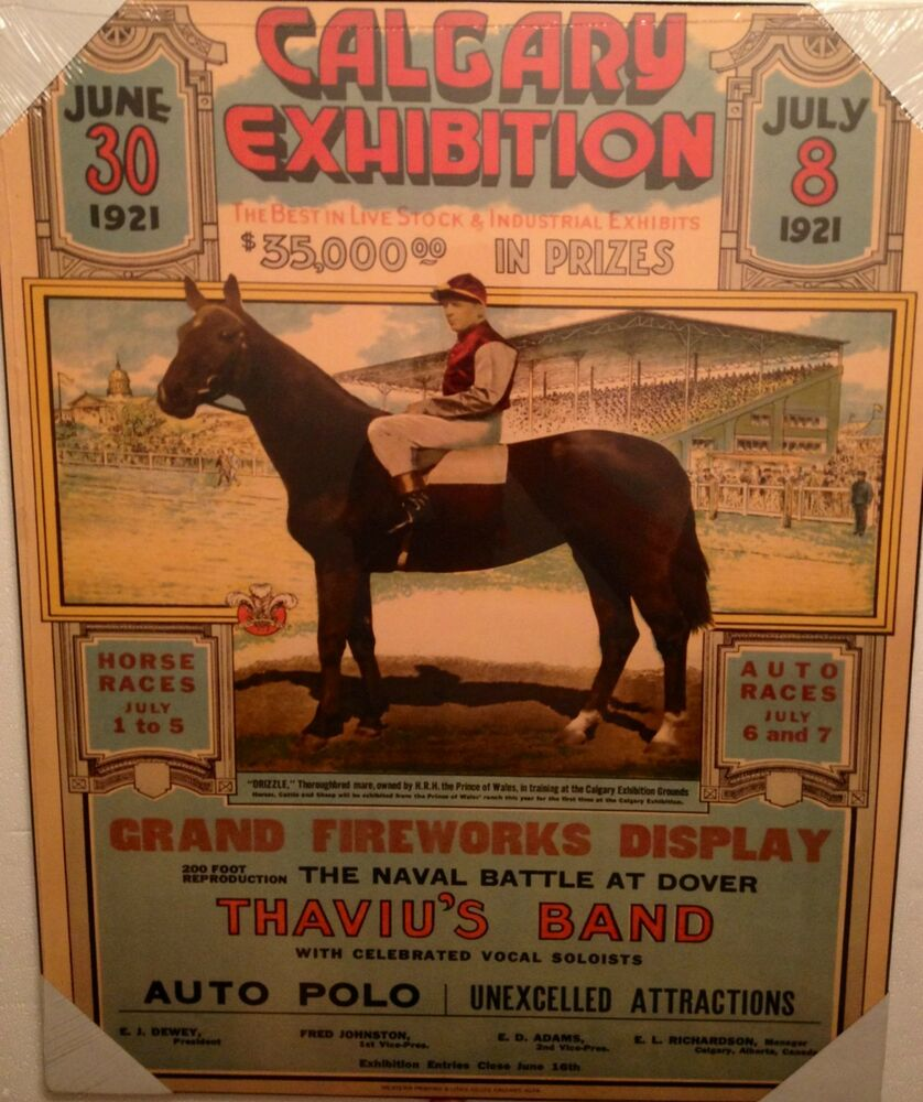 Calgary Stampede Poster Plaque New Ebay