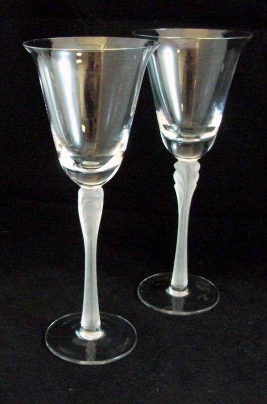 Contemporary Frosted Stem Glasses