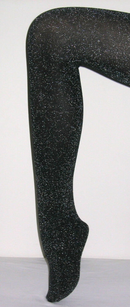 7dba4d8abf38e Details about NEW LUREX GLITTER TIGHTS FASHION PANTYHOSE BLACK/SILVER  QUALITY FAST FREE POST