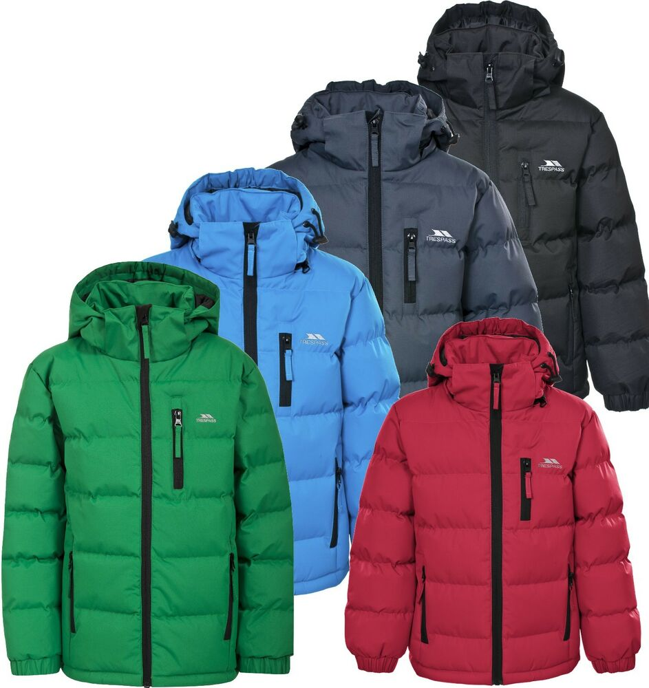 Trespass Tuff Boys Puffa Jacket Kids Padded 2 - 12 yrs ...