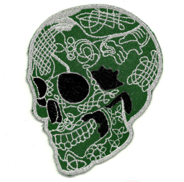 Ecusson Patch Tête de mort Mexicaine CALAVERA Tattoo Chicanos Tatouage Mexique