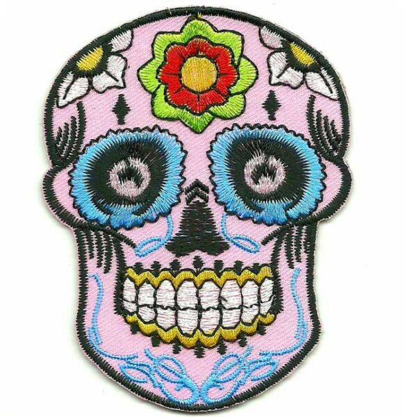 Ecusson Tête de mort Mexicaine CALAVERA Tattoo Sugar Skull Tatouage Mexicain